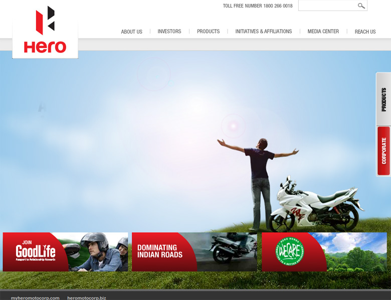 Hero MotoCorp's new website launched